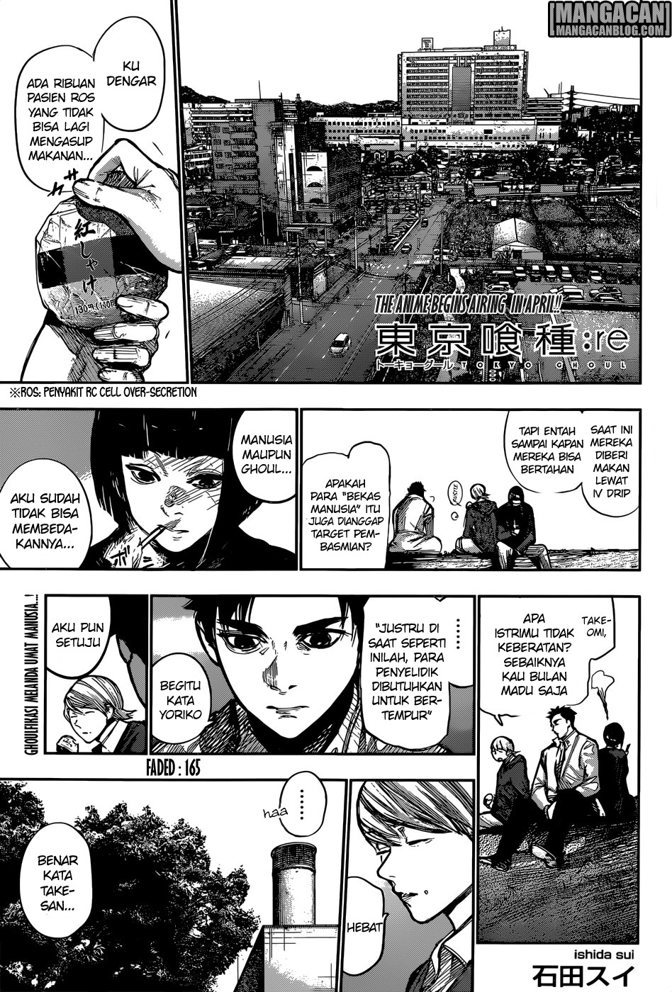 Tokyo Ghoul:re Chapter 165 Bahasa Indonesia