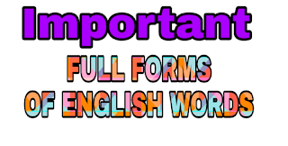 FULL NAME OF English WORD