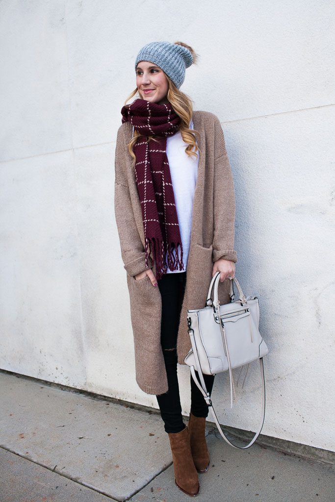 A cardi coat is an easy way to stay cozy and cute during those chilly winter outings!