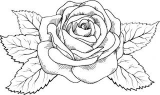 imagenes con flores para colorear