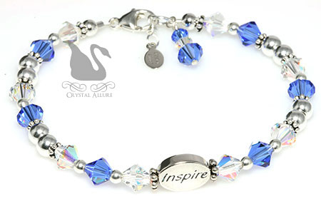Crystal Collegiate Inspire Graduation Bracelet (B213) by Crystal Allure