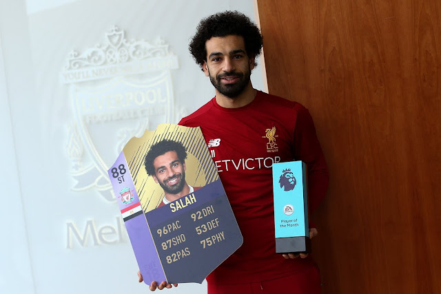 محمد صلاح أفضل لاعب في الدوري الإنجليزي مجددًا