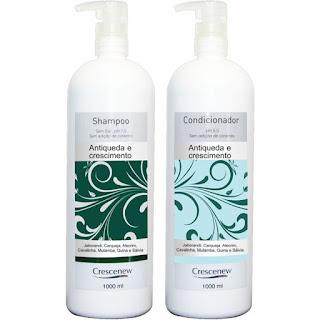 Kit com shampoo e condicionador queda de cabelo de alumã e broto de bambu - 1 litro