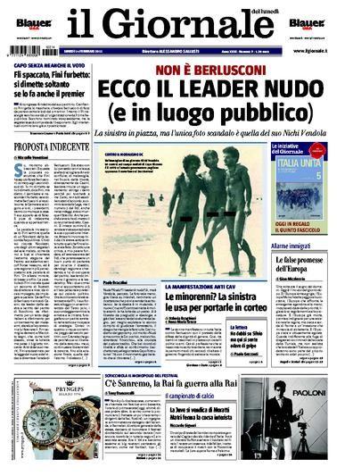 Le donne in piazza contro berlusconi e sallusti pubblica le foto di vendola nudo - Diva e donne giornale ...