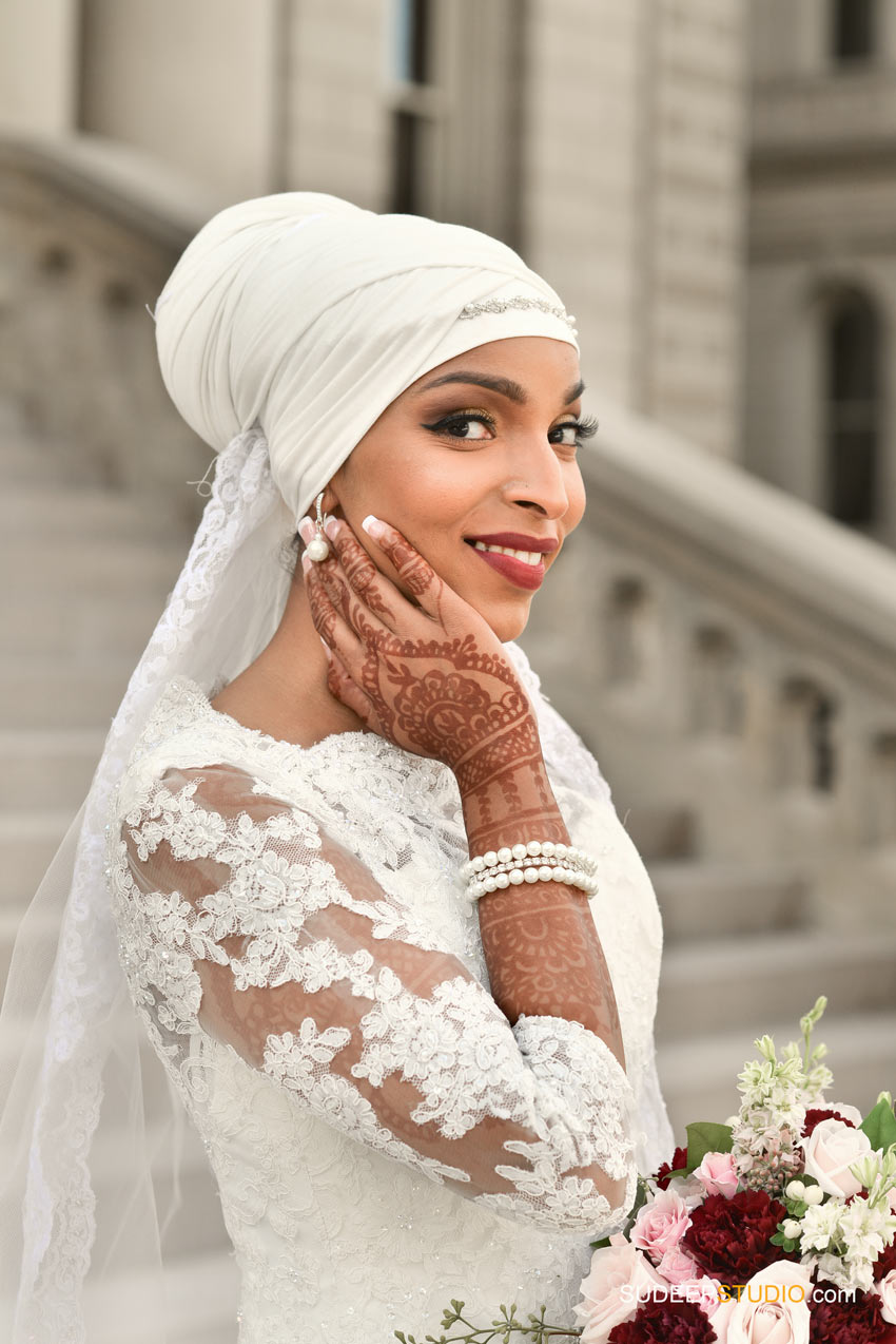 Gorgeous Somali Bride Wedding Dress Lansing Wedding Portraits - SudeepStudio.com Ann Arbor Wedding Photographer