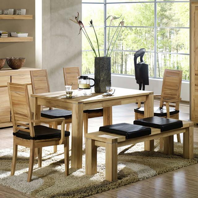 meja makan minimalis klasik