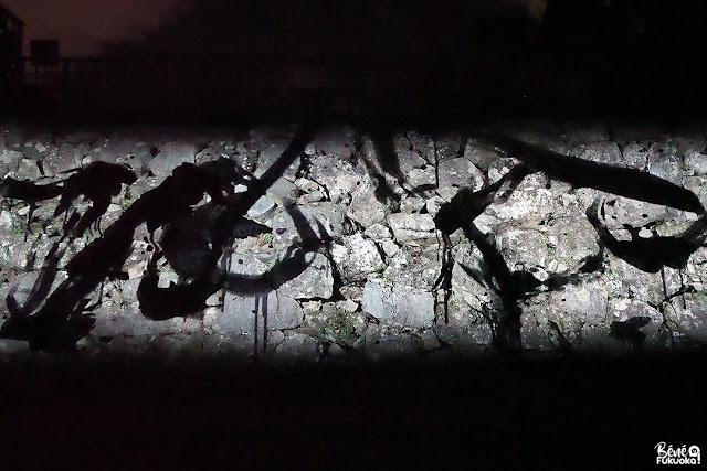 福岡城 チームラボ 城跡の光の祭「石垣の空書 - 石城大天守台跡」