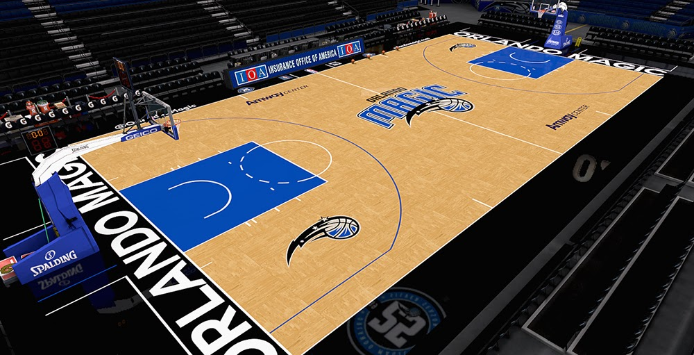brand new e6eab b456d NBA 2K14 Orlando Magic Court V2 (HD Texture Mod) - NBA2K.ORG