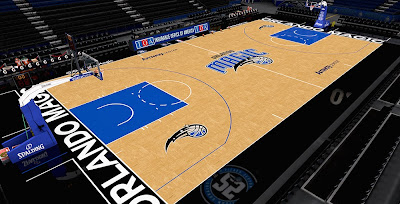 NBA 2K14 Orlando Magic HD Texture Court Mod