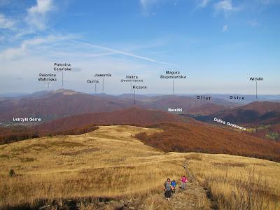 Panorama na północny zachód.