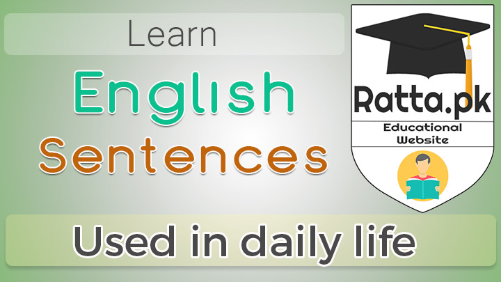 English Sentences Used in Daily Life pdf Ebook Download - Spoken