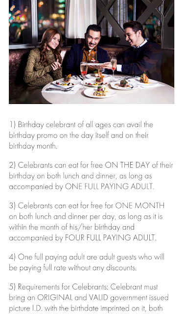 niu buffet, birthday celebrant dine for free,