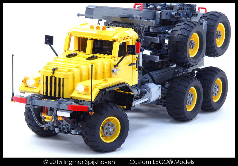 Ingmar Spijkhoven: Truck T14 KrAZ 255B 6x6 (Yellow) with instructions
