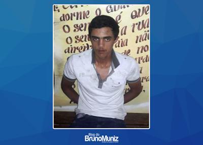 Suspeito do latrocínio foi preso neste domingo aqui em Poção