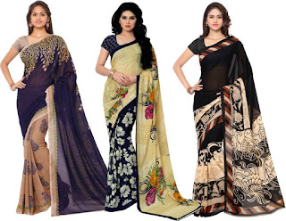 Anand Sarees Printed Fashion Georgette Saree