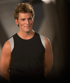 Favorite moments in Catching Fire: Sam Caflin as Finnick Odair
