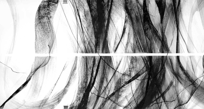 Annik Reymond - fusain 40 cm x 17 mètres, détail 6