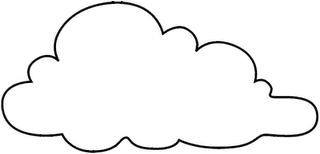 Molde De Nuvem Espaco Educar Desenhos Pintar Colorir Imprimir