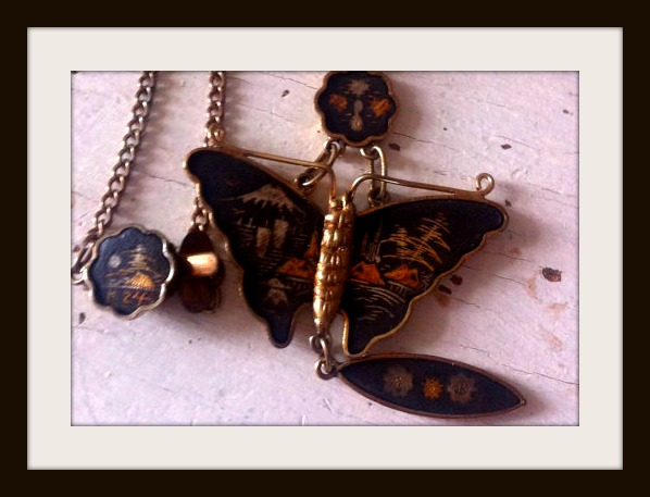 butterfly necklace japanese suziewheatvintage