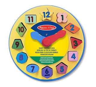 Learn to know clock, BEST Kids Toys, Melissa and Doug Shape Sorting Clock – £8.29