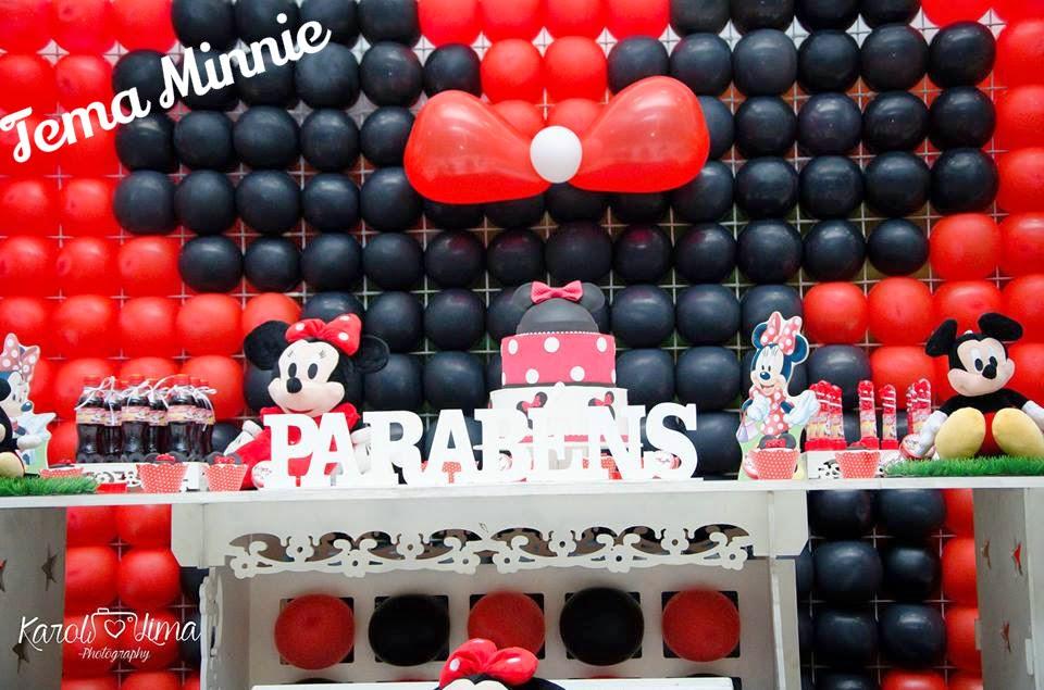 Decoração infantil, festa de aniversario da Minnie