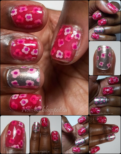 Extra Shots of the completed manicure