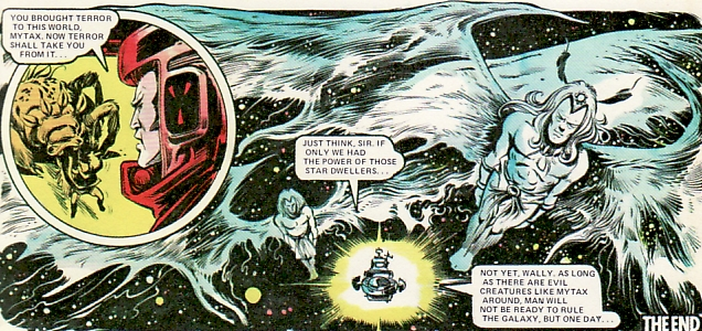 Dan Dare is taken home by Solan and his dad while Mytax gets his what-for, Massimo Belardinelli, 2000AD Annual, 1978