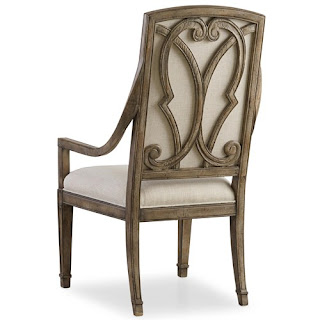 baers The Solana Host Chair with Upholstered Back and Tapered Leg