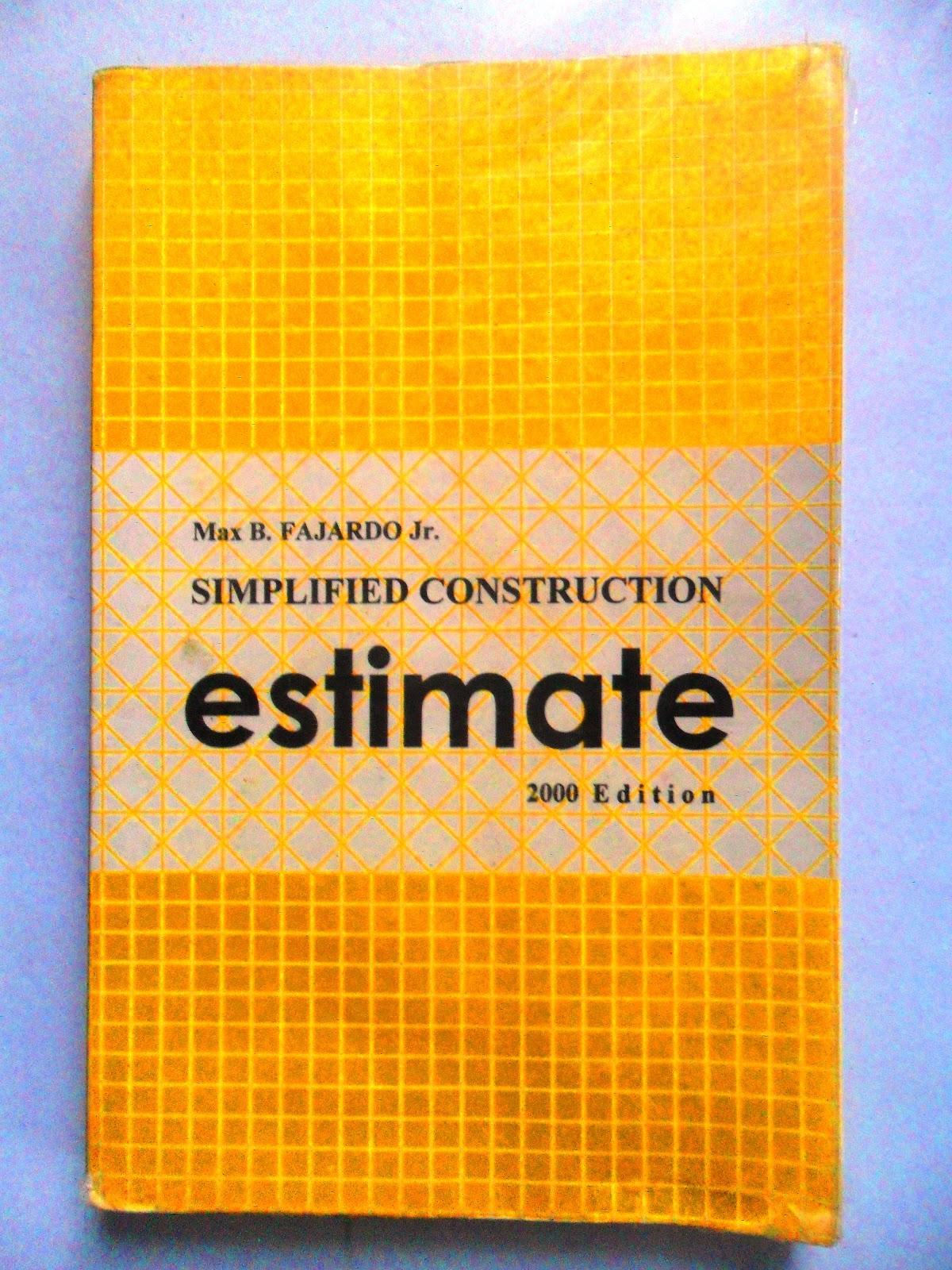 Construction Estimates By Max Fajardo Pdf