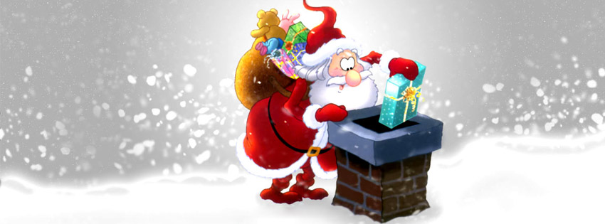 Santa Claus facebook cover photo and Twitter Image