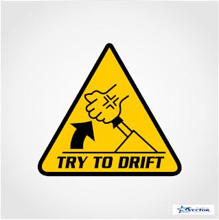 Try to Drift Logo Vector cdr