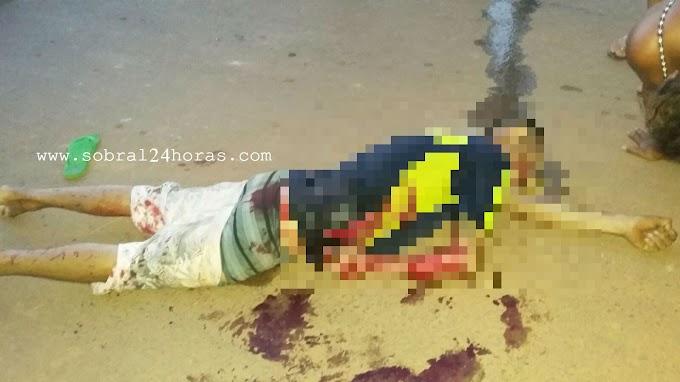 SOBRAL: Jovem é alvejado com vários tiros no bairro Paraíso das Flores