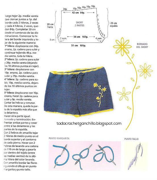 Bikini y Short Crochet / Paso a paso   Todo crochet
