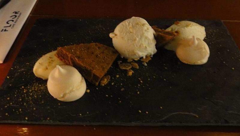 chef's dessert Café mint hazelnut restaurant Floor Rotterdam
