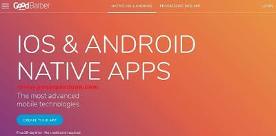 membuat aplikasi android tanpa coding dengan goodbarber