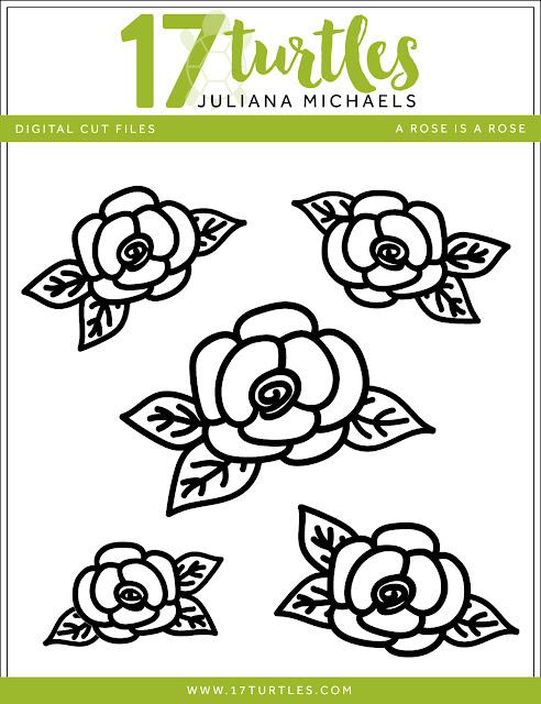 A Rose Is A Rose Free Digital Cut File by Juliana Michaels www.17turtles.com