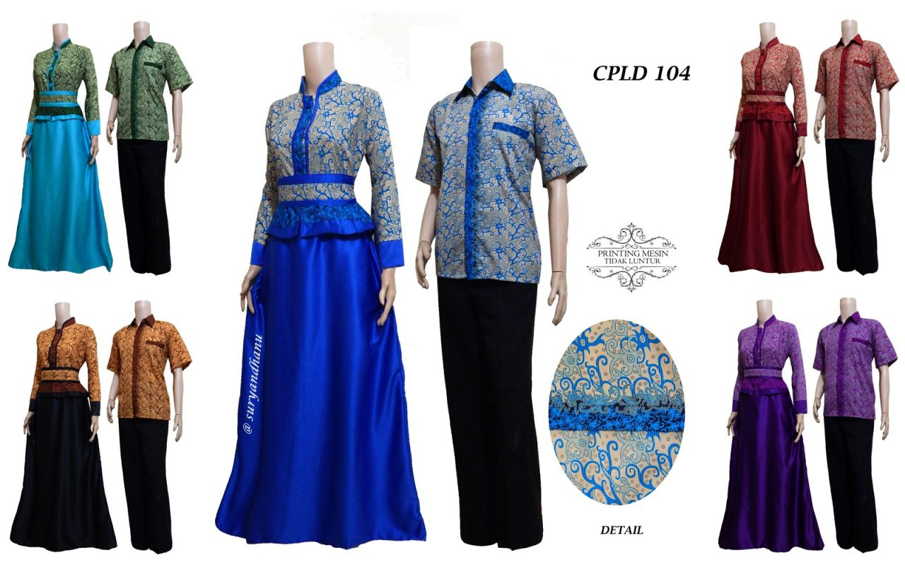 Jual Dress Batik Couple Murah Gambar Dress Batik Couple