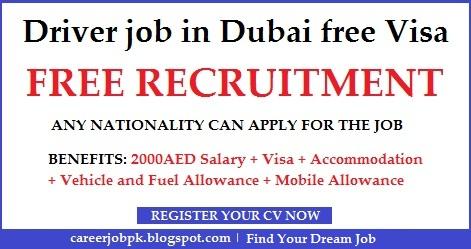 Driver Free Visa jobs in Dubai