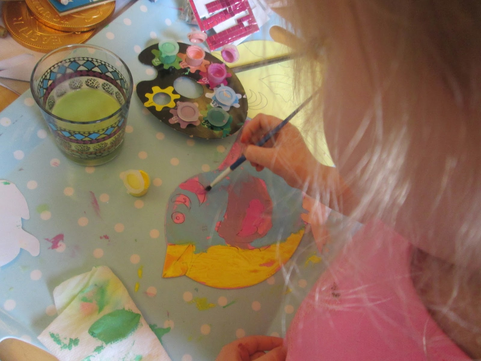 Easter painting by numbers with Lily