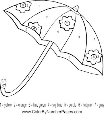 Umbrella Coloring Page 5