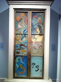 Gauguin's painted glass panel in NOMA