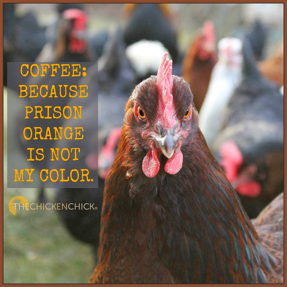 Coffee: because prison orange is not my color.