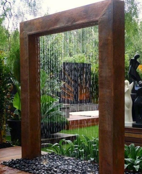 Homemade Water Fountain For Unique Small Garden View ... on Home Garden Fountain Design id=16615
