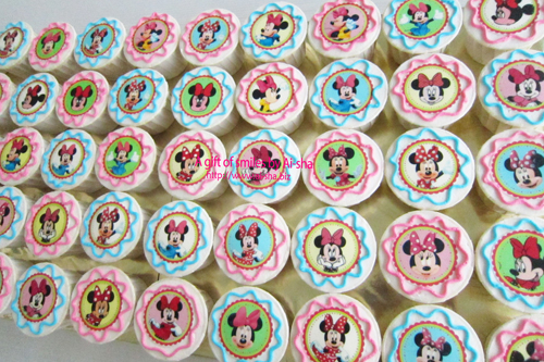 Birthday Cupcake Edible Image Minnie Mouse Ai-sha Puchong Jaya
