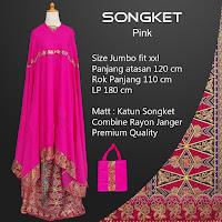 Mukena Bali Songket Pink