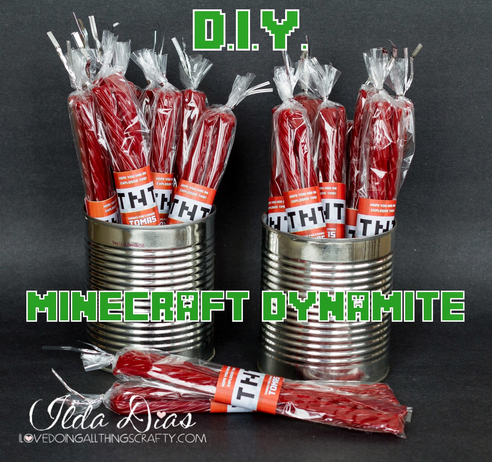 Minecraft Dynamite - DIY Party Favors