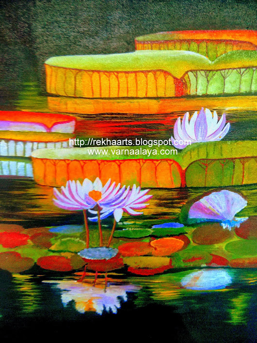 Water Lilly Painting - Acrylic Painting