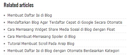 Related Post di Bawah Postingan Blog