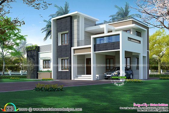 2276 sq-ft, 3 bedroom modern box style architecture