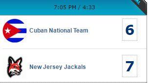 Los cubanos vencían 6-3 a los Chacales de New Jersey en el séptimo episodio, cuando racimo de cuatro carreras trocó el marcador a favor de los norteños 7-6 en el estadio Yogi Berr